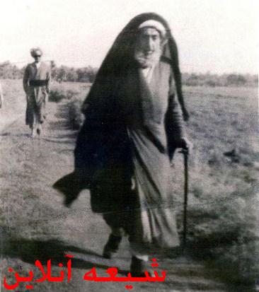 پیاده روی حضرت آیت الله میرزا جواد تبریزی