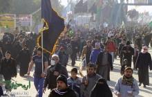 اولین تجمع زائرین پیاده روی اربعین در مصلای بزرگ امام خمینی