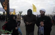 حاج حسین یکتا در مسیر نجف به کربلا