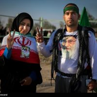 تصاویری از زائران در پیاده روی نجف به كربلا