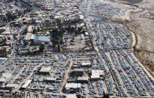 تصاوير هوايي از شهر مهران و زايران اربعيني