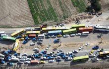 ترافيك منتهي به مهران سنگين است+تصاوير