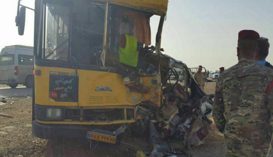 ۱۱ زائر ایرانی در تصادف اتوبوس کشته شدند